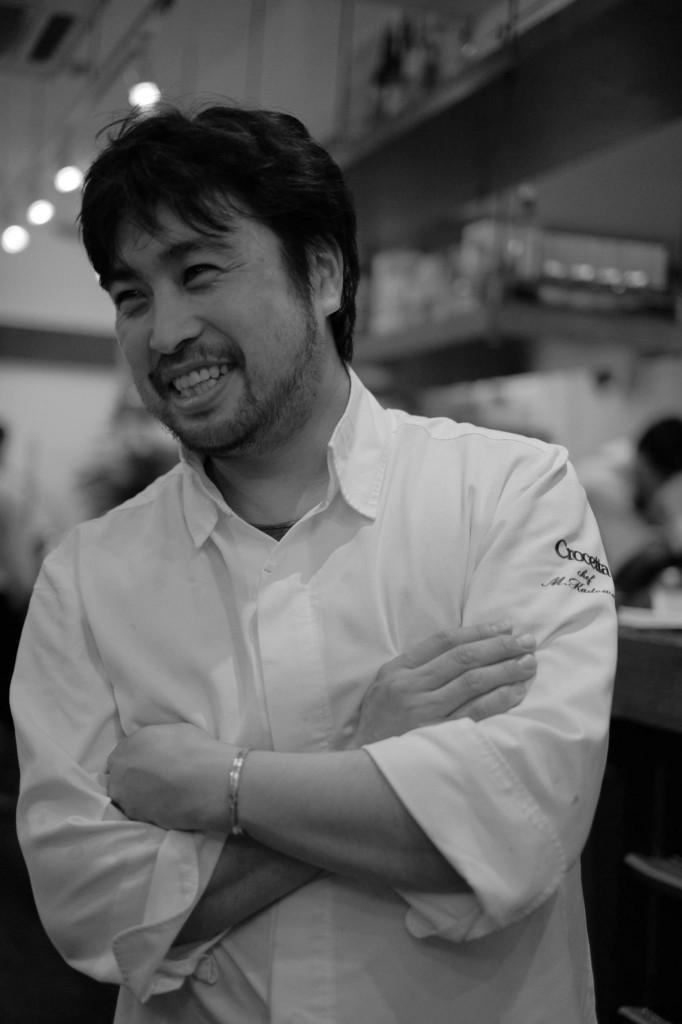 オステリアクロチェッタのシェフ門脇氏 - 岡田光世