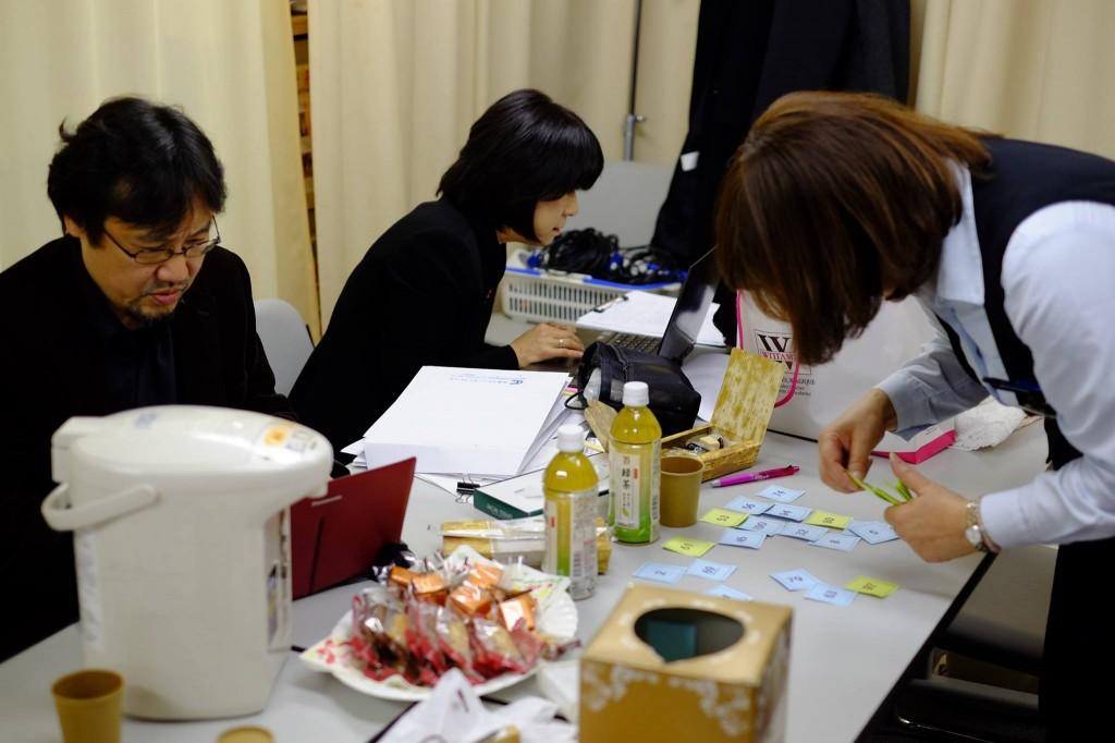 講演会前の控室 - 岡田光世