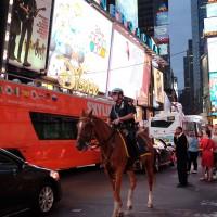 NYタイムズスクウェアの騎馬警官 - 岡田光世